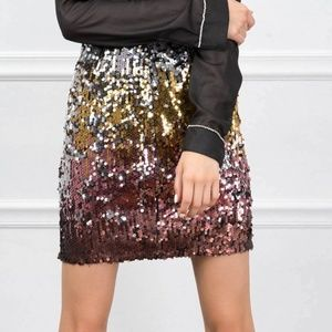 Forever 21 Ombre Sequin Mini  - Medium